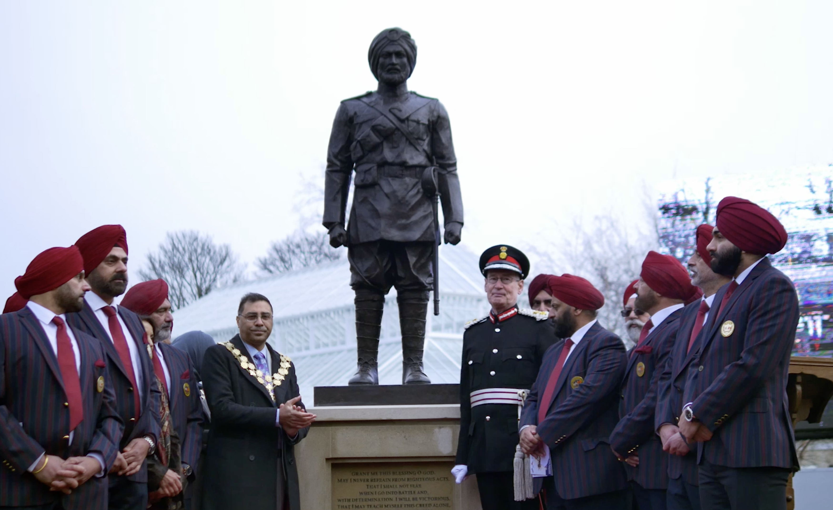 Sikh Soldier Statue unveiled in Greenhead Park