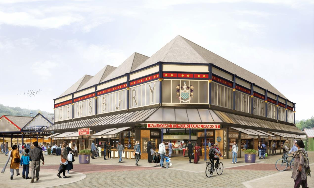 What are the next steps for Dewsbury Blueprint Market Regeneration Project?