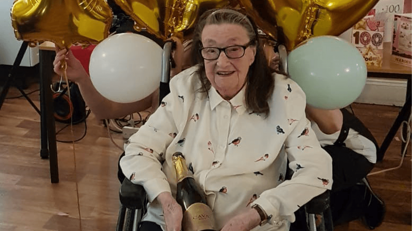 Kirklees care home resident recieves over 100 Cards to celebrate their 100th birthday
