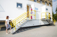Breast screening van stationed at Cleckheaton over the summer