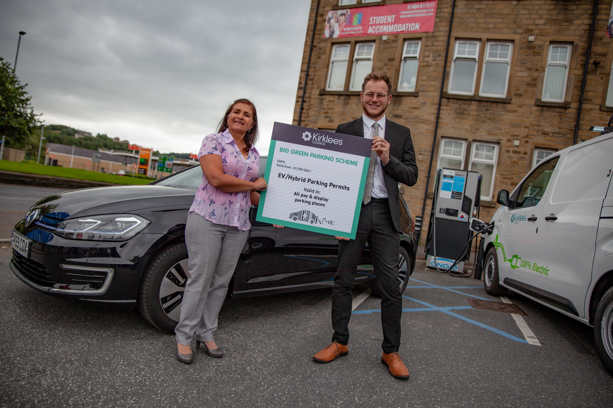 Kirklees Council Launches New 'Green One' Parking Permit for Low Emission Vehicles