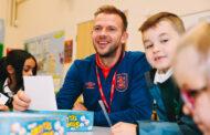 Huddersfield Town's Jordan Rhodes visits Orchard Primary Breakfast Club